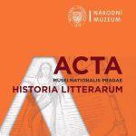 Acta Musei Nationalis Pragae – Historia litterarum